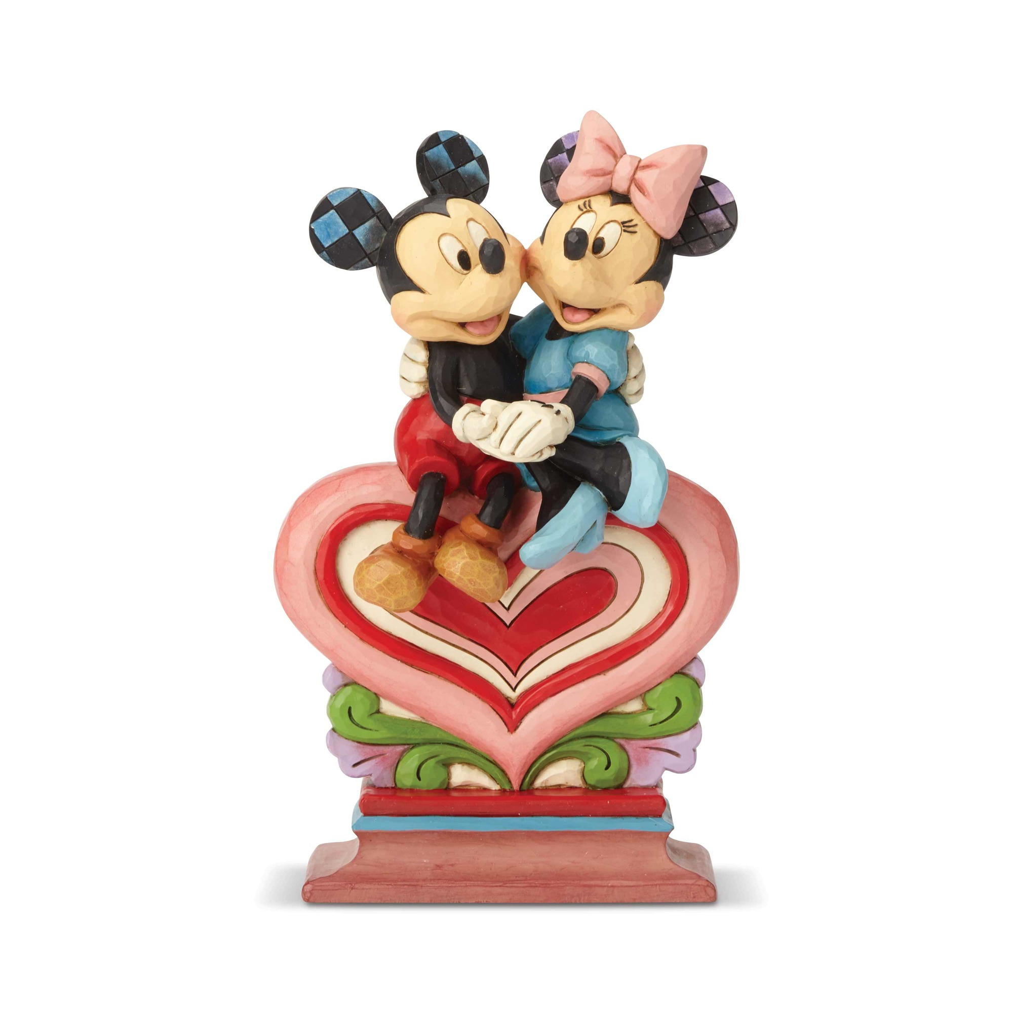 6001282 Minnie and Mickey Sitting on Heart