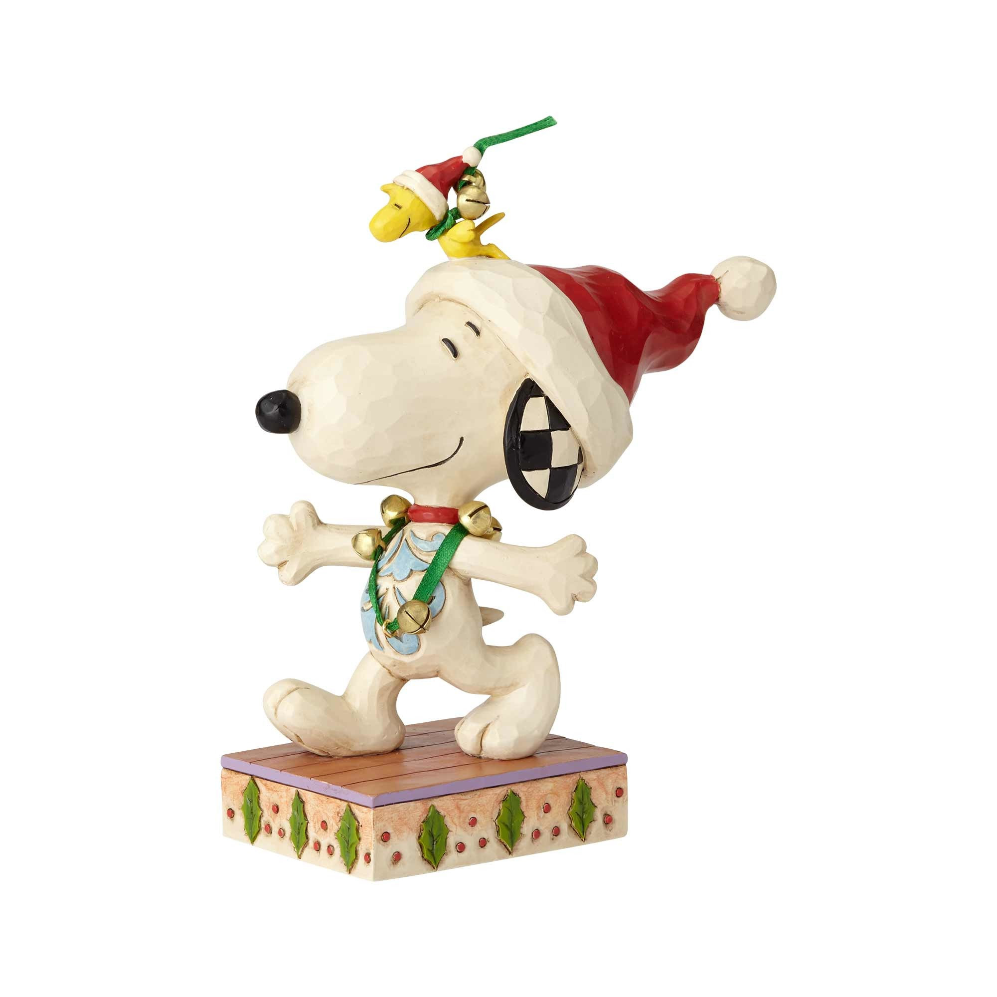 Snoopy and Woodstock with Jingle Bells
