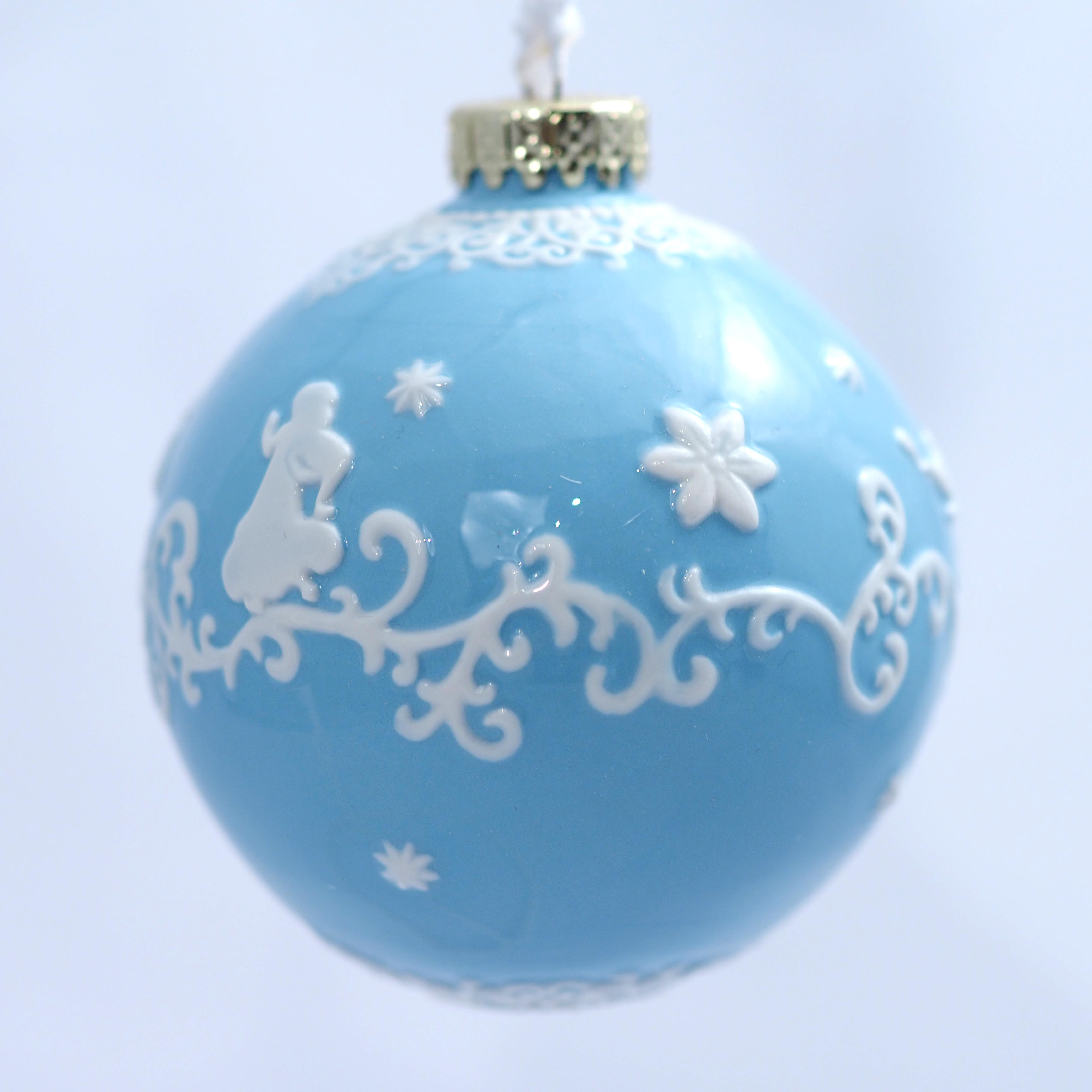 ELDPXO14302 Jasmine White Ornament