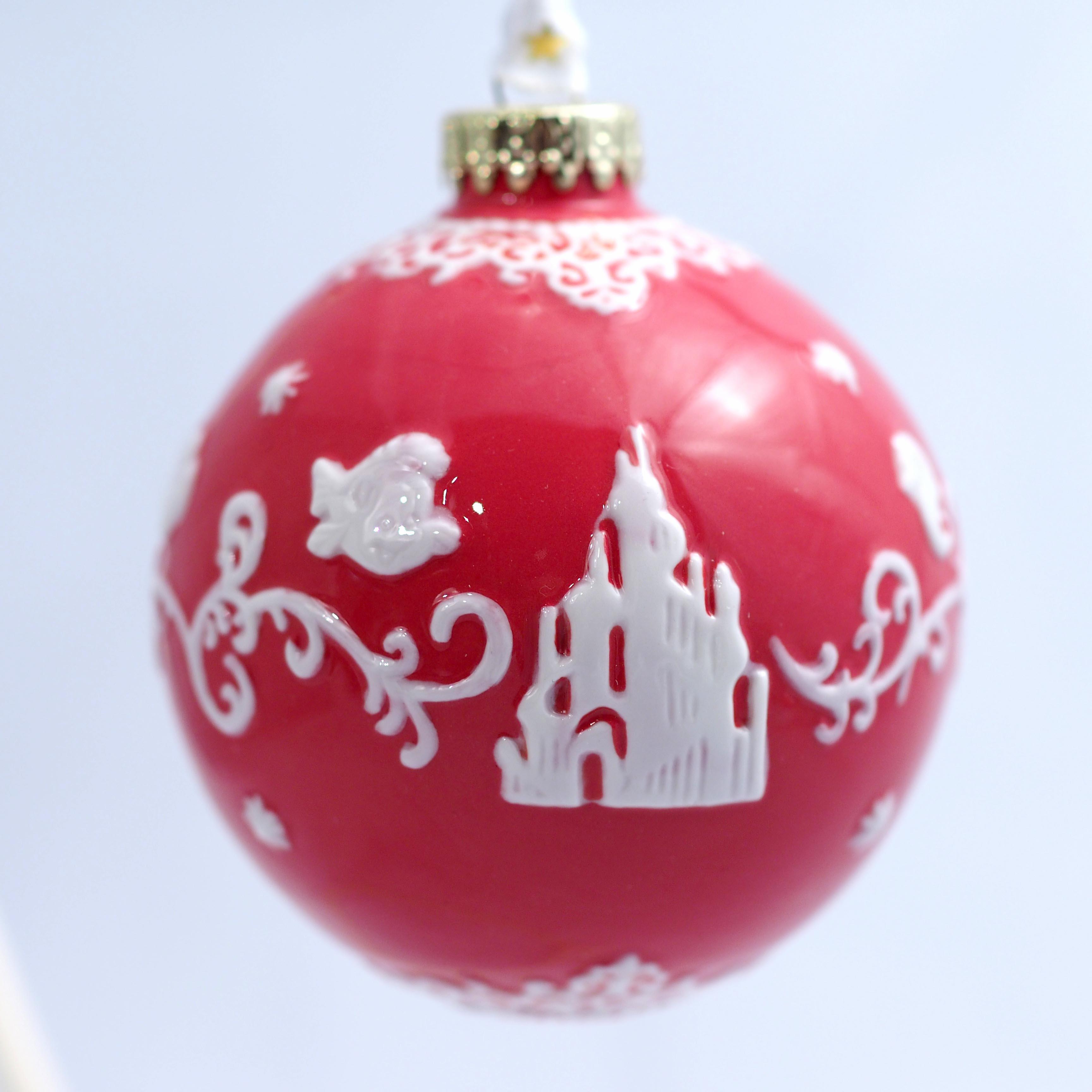 ELDPXO14002 Ariel White Ornament