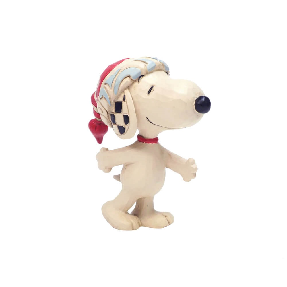 Mini Snoopy with red and White Stocking Hat