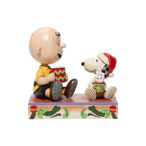 Charlie Brown and Snoopy with Hot Chocolate
